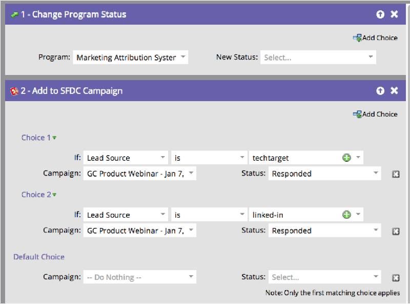 from marketo to salesforce - screenshot
