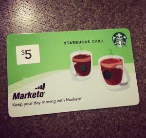 marketo gift card for starbucks