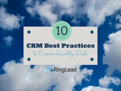 crm best practices - infographic