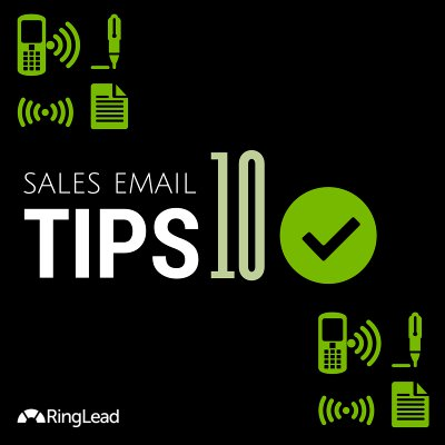 Sales Email Tips - infographic