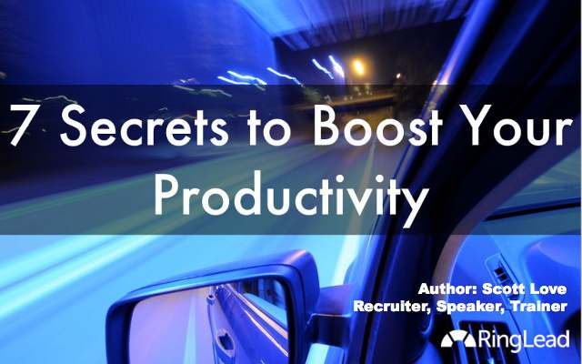 boost productivity - high speed driving