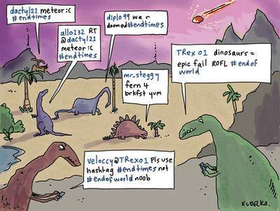 dinosaurs chatting - comic
