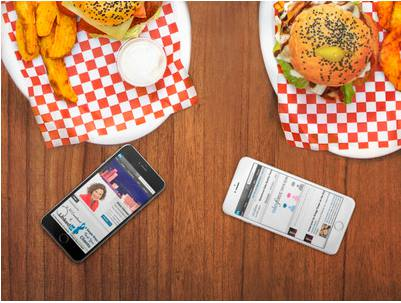 social selling - fast food and mobile phones