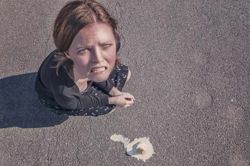 Marketing Automation Mistakes - woman dropping ice cream