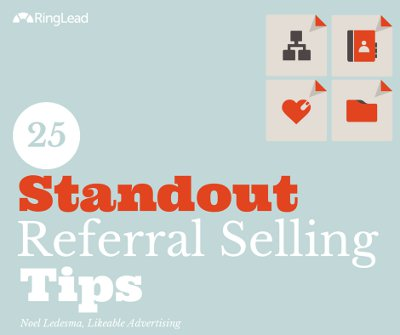 Referral Selling Tips - infographic