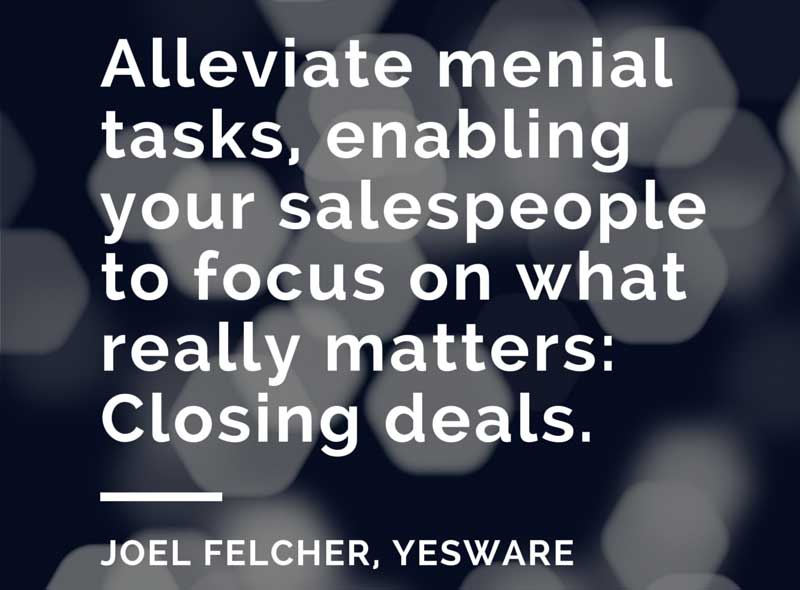 alleviate mental tasks - yesware infographic