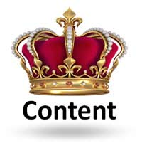 content is king - crown