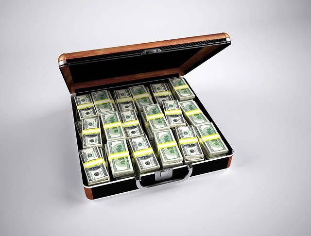 marketing automation costs - briefcase with money