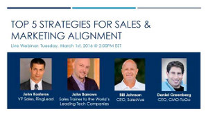 Sales and Marketing Alignment Webinar