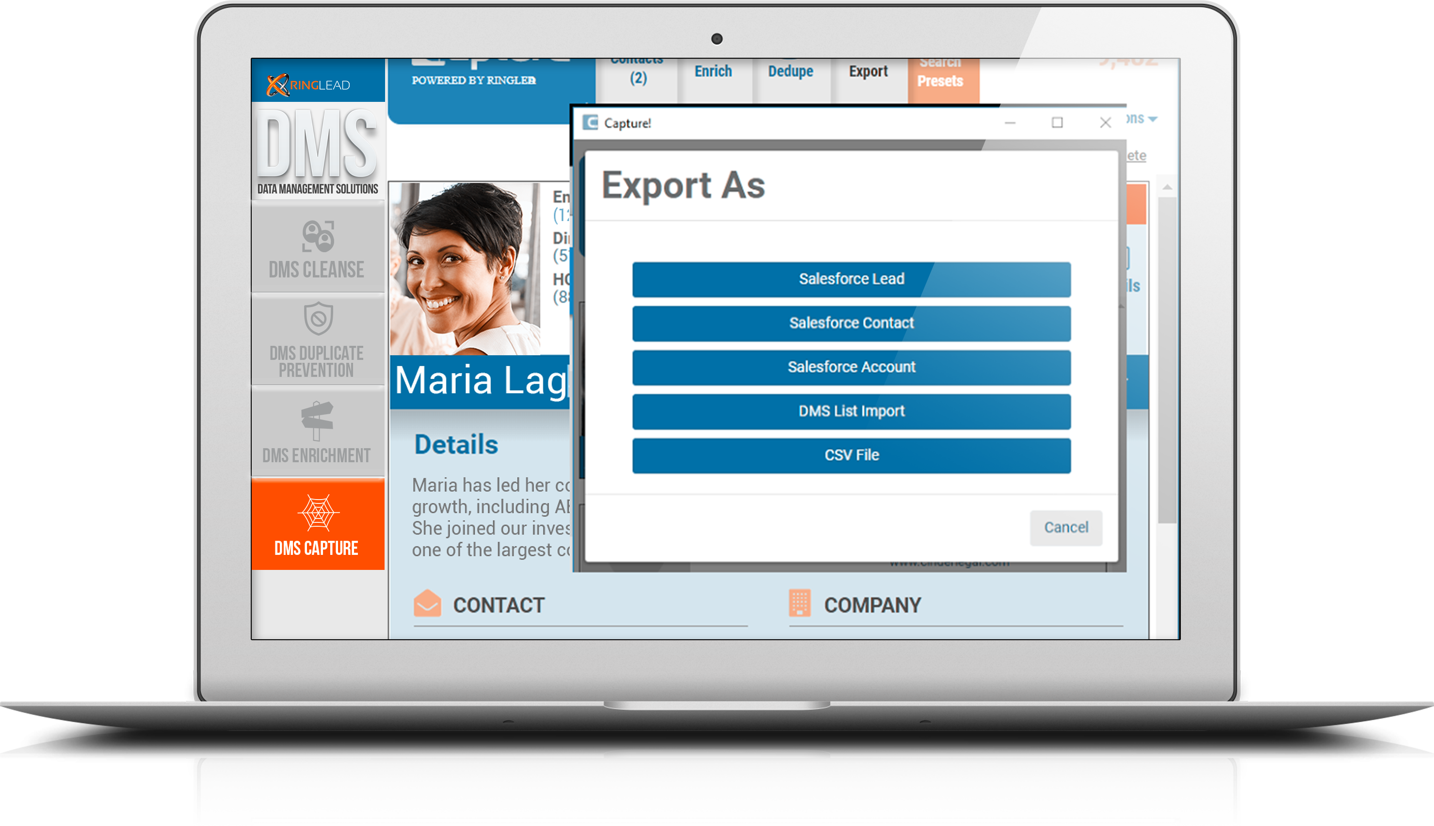 Export Leads Right into Your CRM