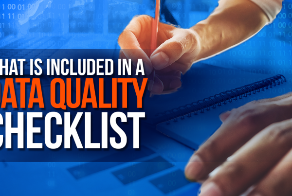 What Is Included In The Data Quality Checklist