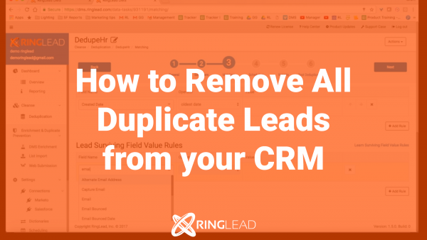 CLEANSE: How to Remove all Duplicate Leads from Your CRM