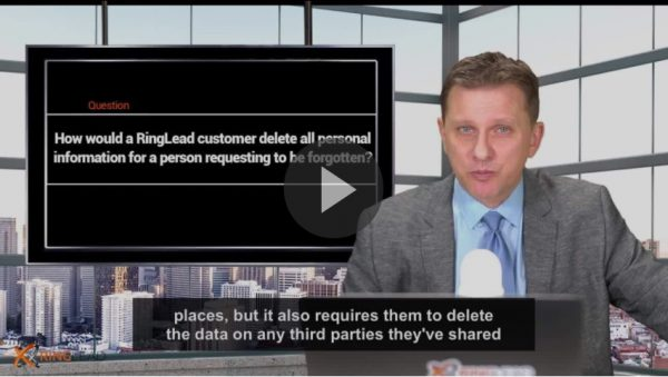 Q5 - How would a RingLead customer delete all personal information?