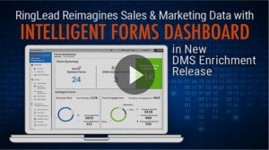 RingLead Reimagines Sales and Marketing Data with Intelligent Forms Dashboard Release