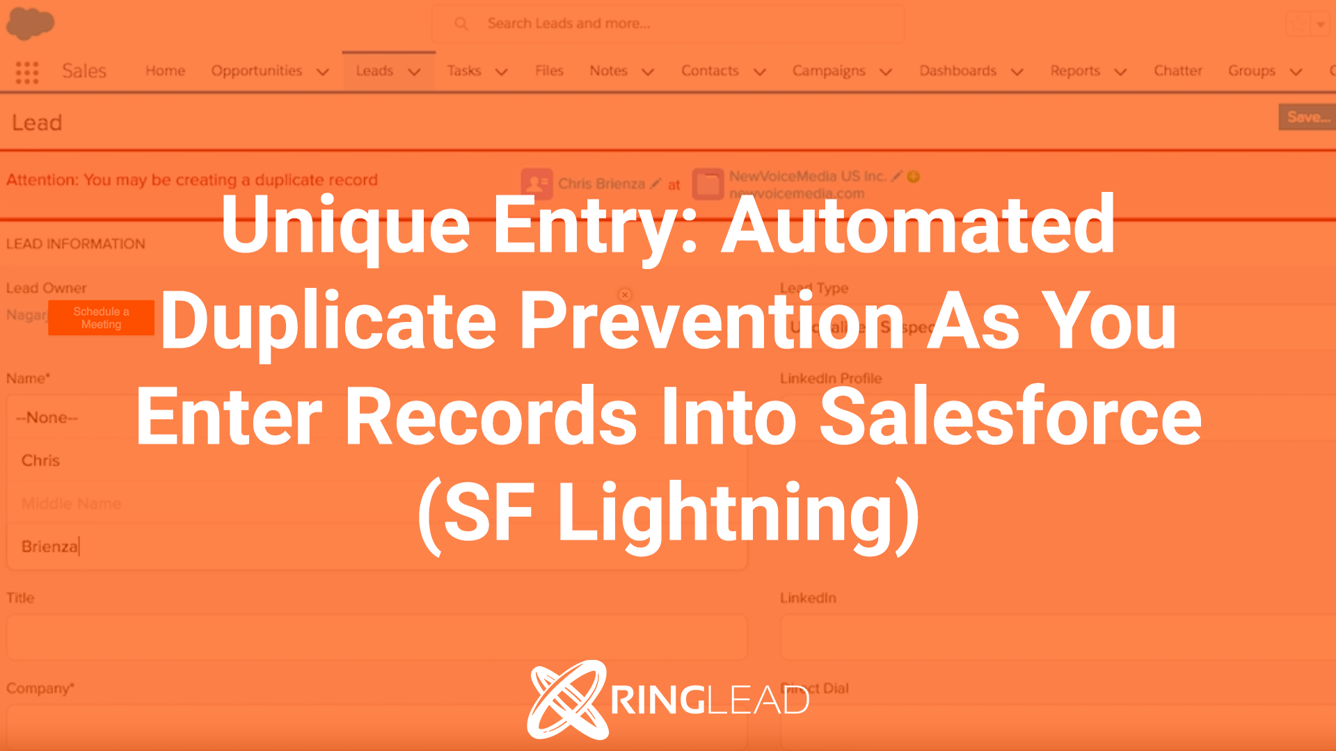 Unique Entry: Automated Duplicate Prevention As You Enter Records Into Salesforce (SF Lightning)