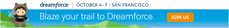 Dreamforce. Innovation, giving and fun. All snowballed into one rockin' event. October 4-7, 2016 | San Francisco, CA. Register Now.