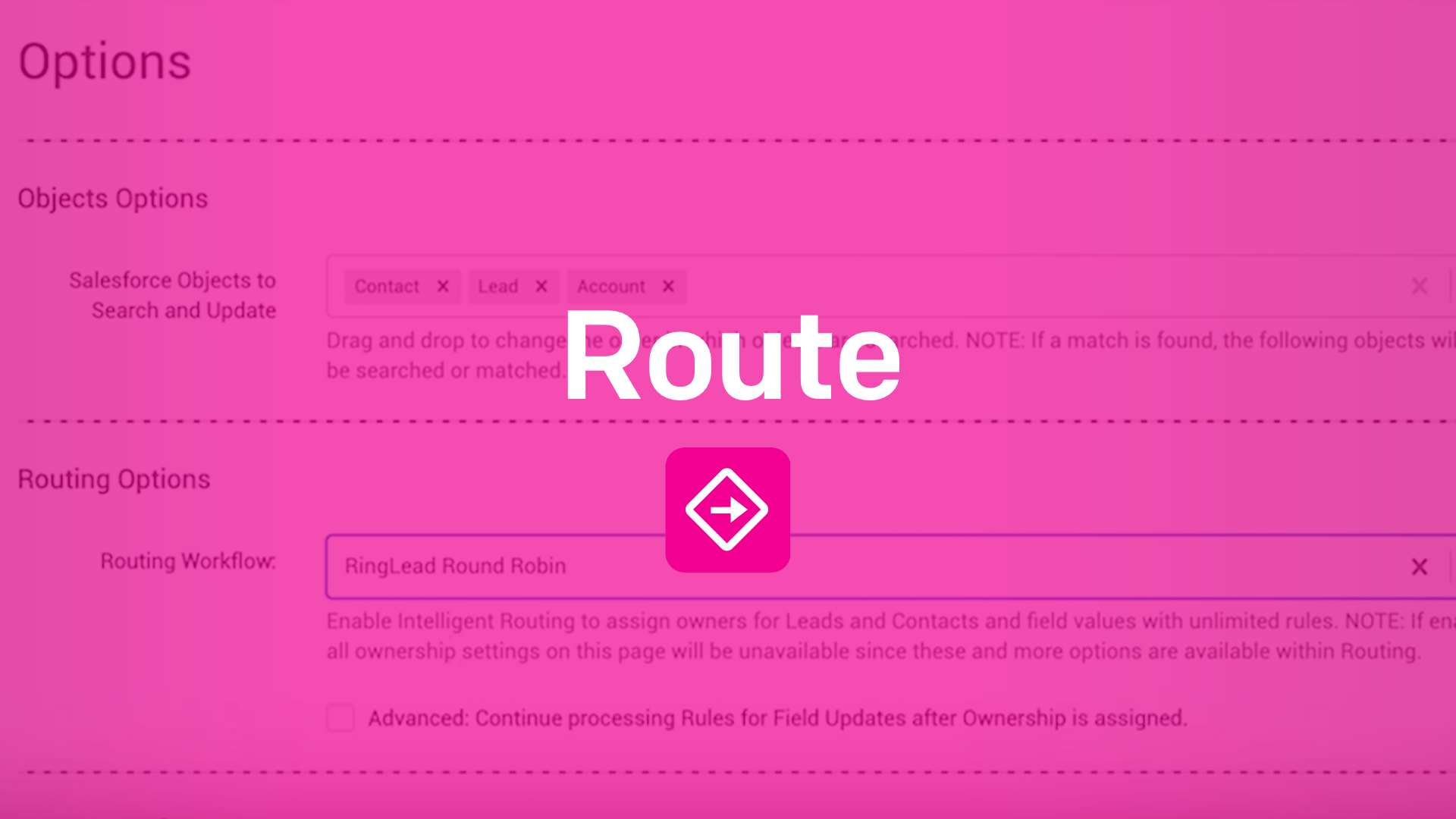 RingLead Route Overview