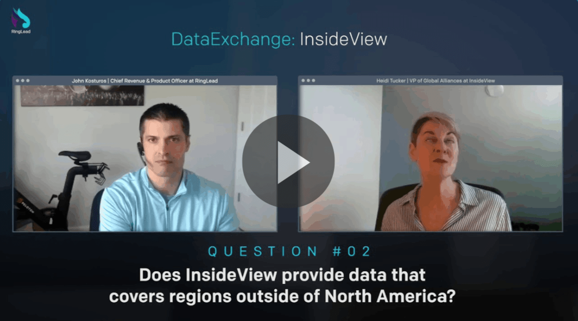 Does InsideView have a global dataset?
