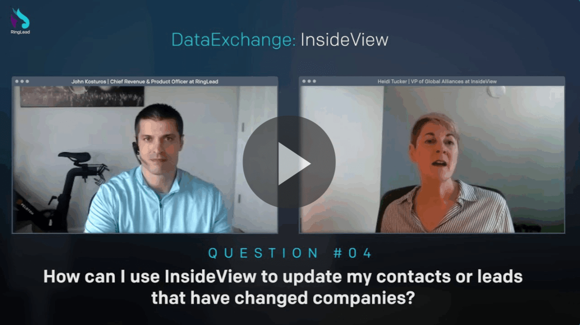 How can I use InsideView to update contacts that have left their company?