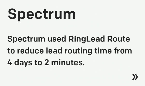 Spectrum Enterprise and RingLead: Post-Acquisition Territory Management and Lead Routing